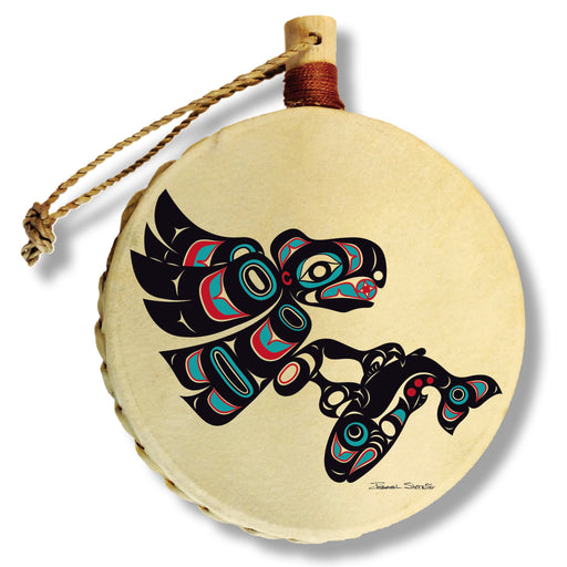 """Eagle & Salmon"" Drum Ornament - Shotridge.com"
