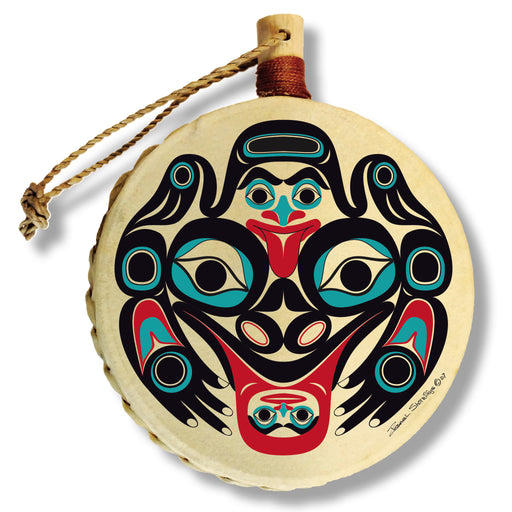 """Frog"" Drum Ornament - The Shotridge Collection"