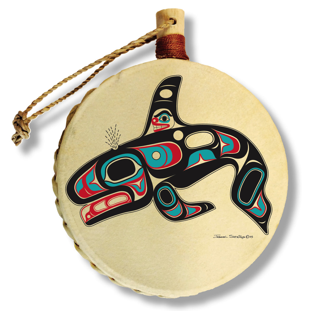 """Killer Whale"" Drum Ornament - The Shotridge Collection"