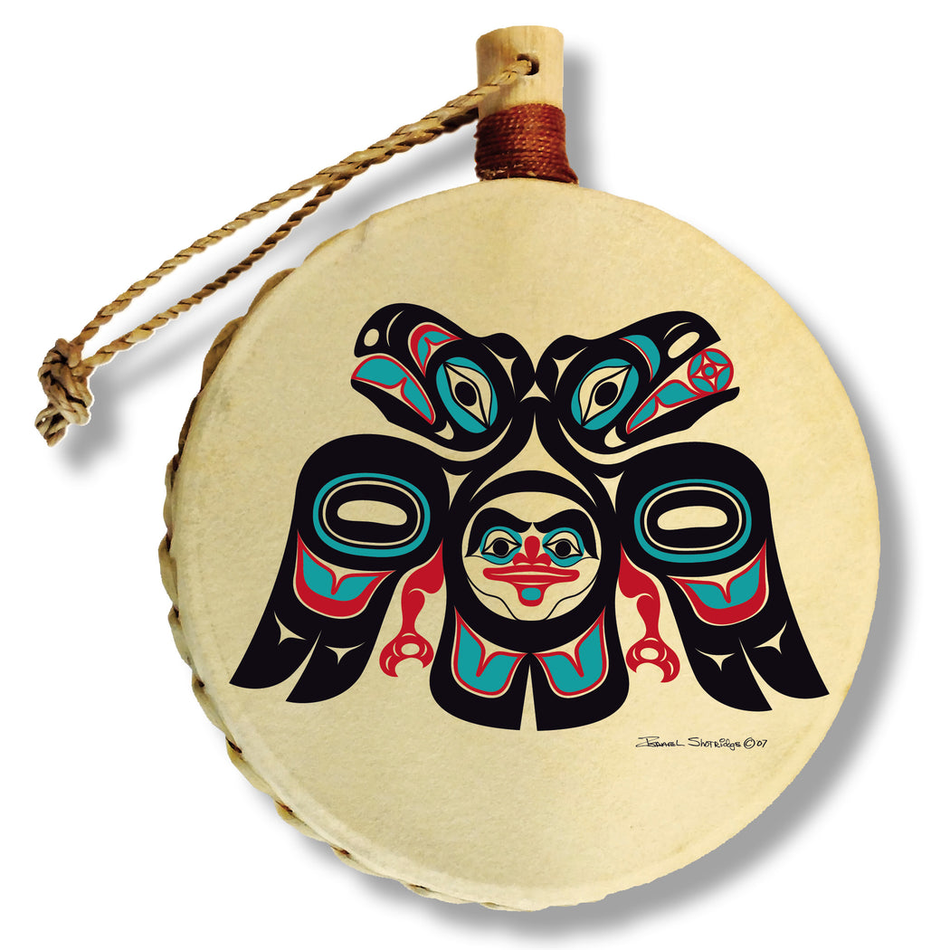 """Lovebirds"" Drum Ornament - The Shotridge Collection"