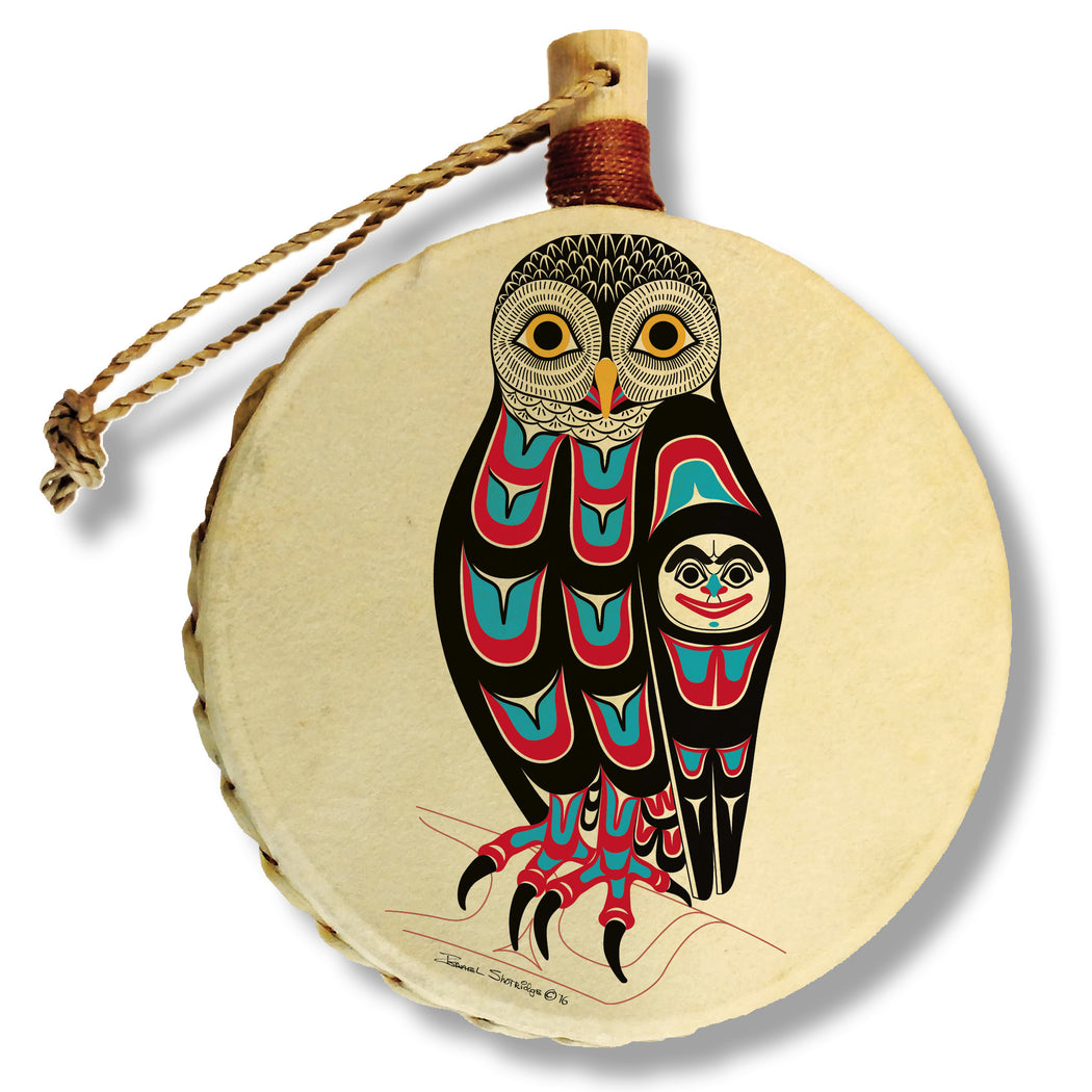 """Owl"" Drum Ornament - The Shotridge Collection"