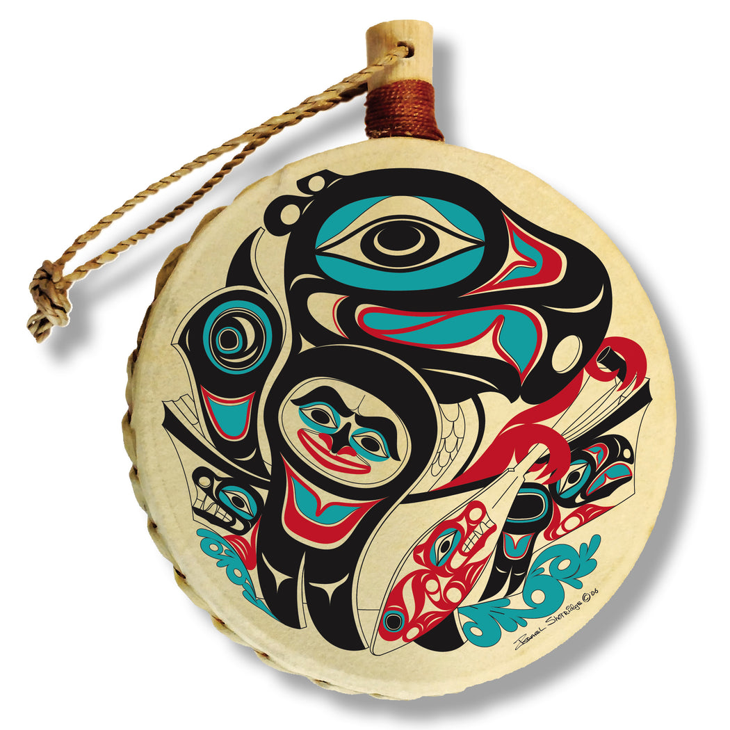 """Going to the Potlatch"" Drum Ornament - The Shotridge Collection"