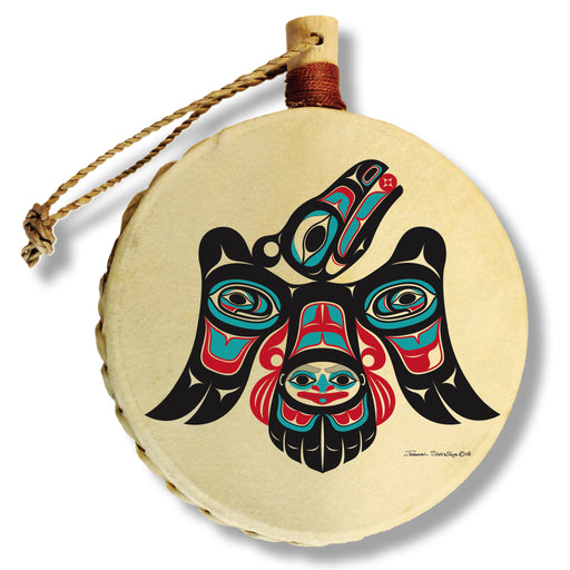 """Raven's Journey"" Drum Ornament - The Shotridge Collection"