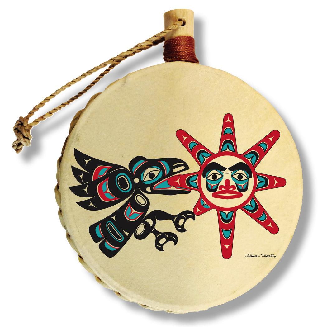 """Raven Stealing The Sun"" Drum Ornament - The Shotridge Collection"
