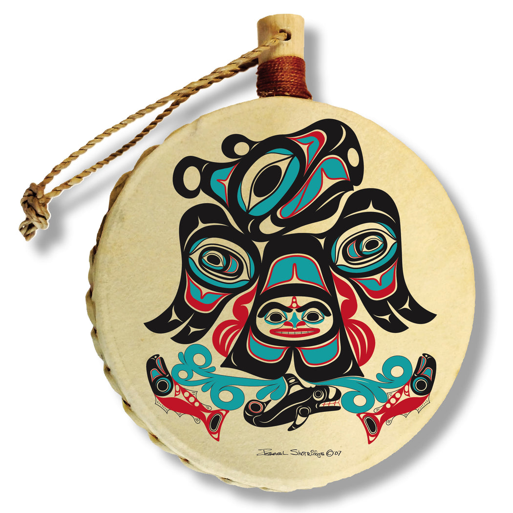 """Thunderbird By The Sea"" Drum Ornament - The Shotridge Collection"