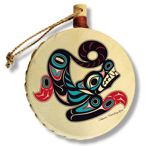 """Wolf"" Drum Ornament - The Shotridge Collection"