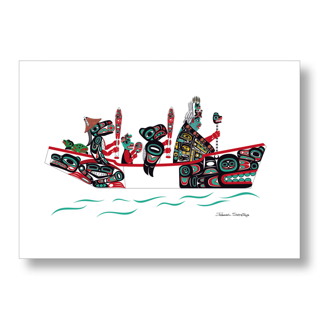 """The Canoe Journey"" Limited Edition Art Print - The Shotridge Collection"