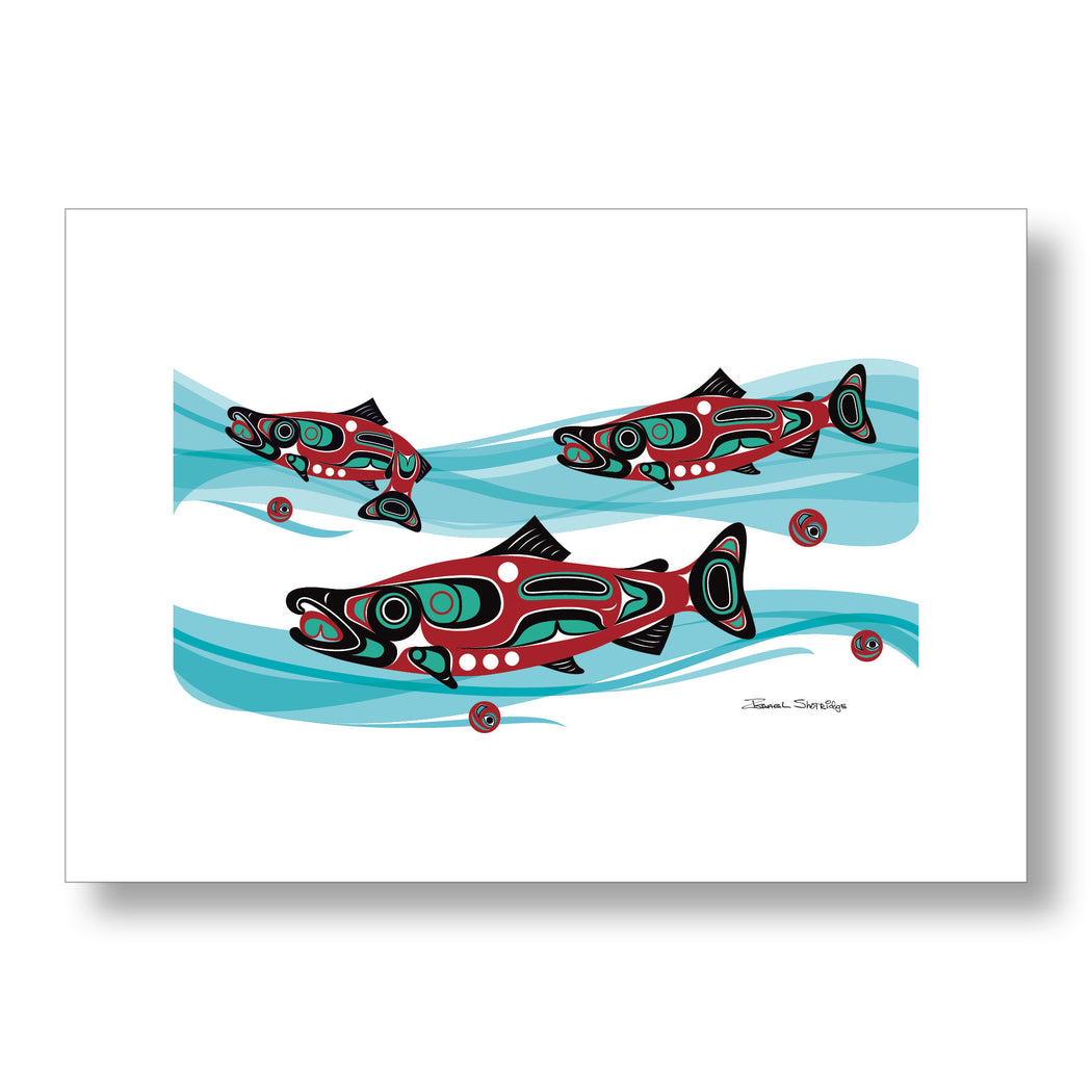 """Salmon Run"" Limited Edition Art Print - The Shotridge Collection"