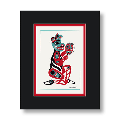"""Bear Drummer"" Art Card - Shotridge.com"