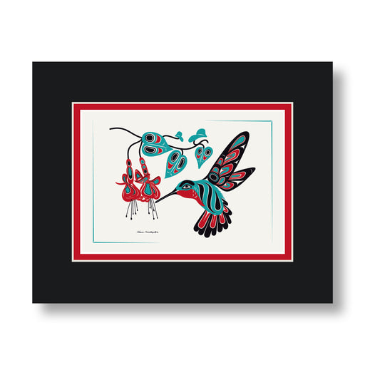 """Hummingbird & Fuchsia"" Art Cards - The Shotridge Collection"