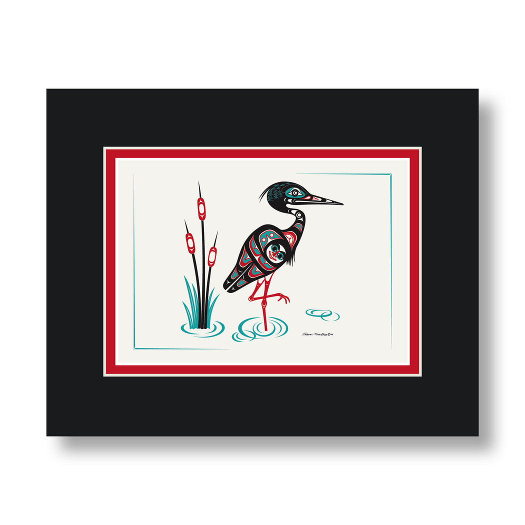 """Heron"" Art Card - The Shotridge Collection"