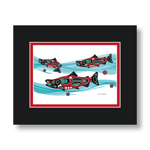"""Salmon Run"" Art Cards - Shotridge.com"