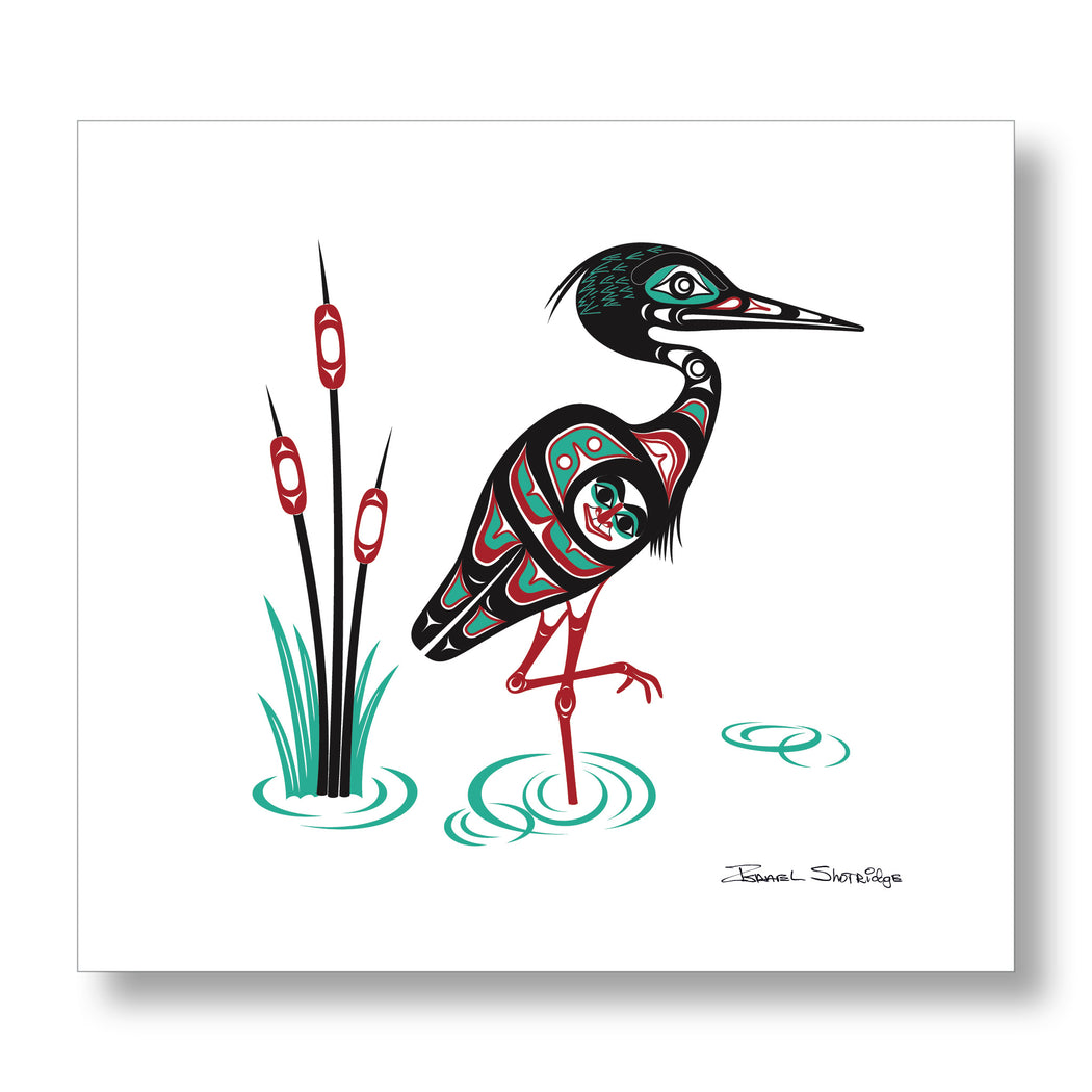 """Heron"" XL Limited Edition Art Print - The Shotridge Collection"
