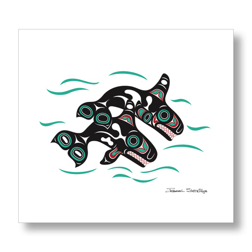 """Orcas"" XL Limited Edition Art Print - The Shotridge Collection"