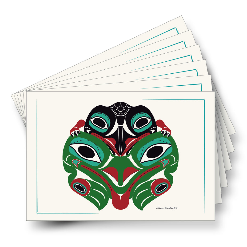 """Baby Raven & Frog"" Art Cards"
