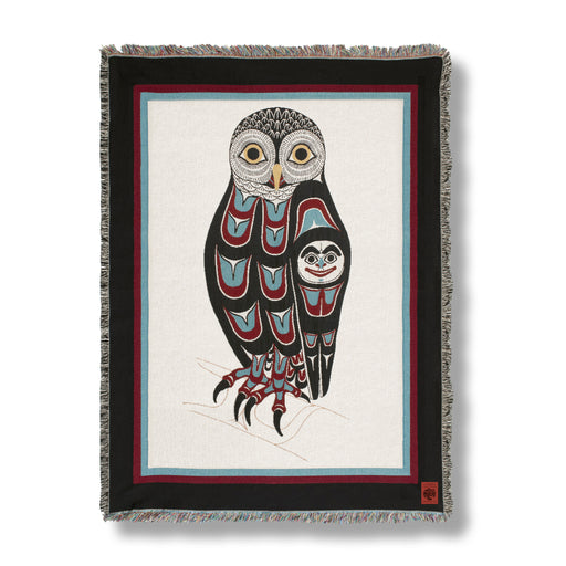 """Owl"" Cotton Tapestry Blanket Throw"