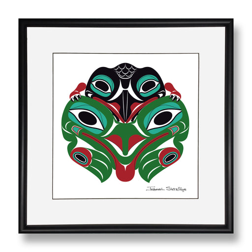 """Baby Raven & Frog"" Limited Edition Art Print"