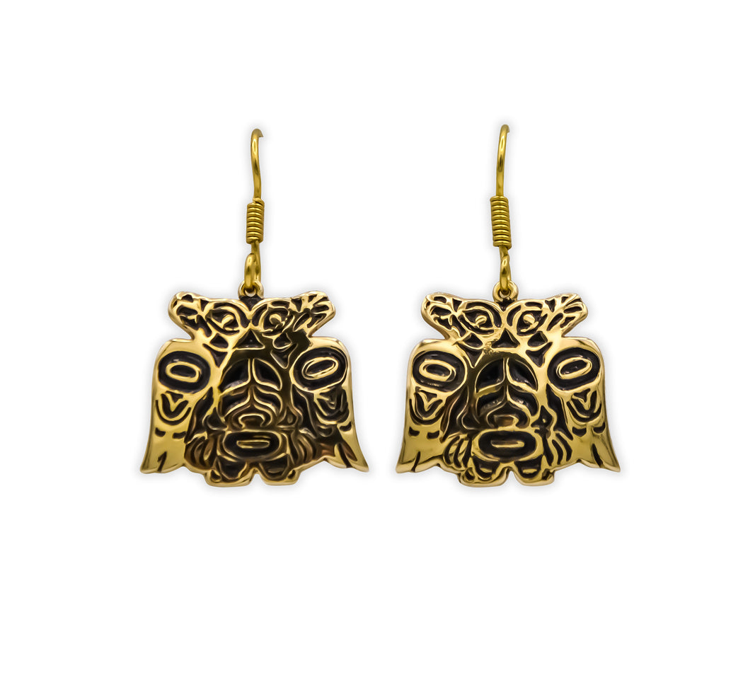 """Lovebirds"" Alchemia Gold Earrings - The Shotridge Collection"