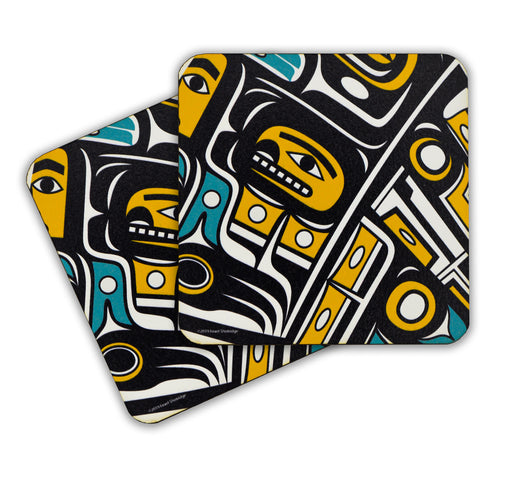 """Chilkat"" Wooden Coasters - The Shotridge Collection"