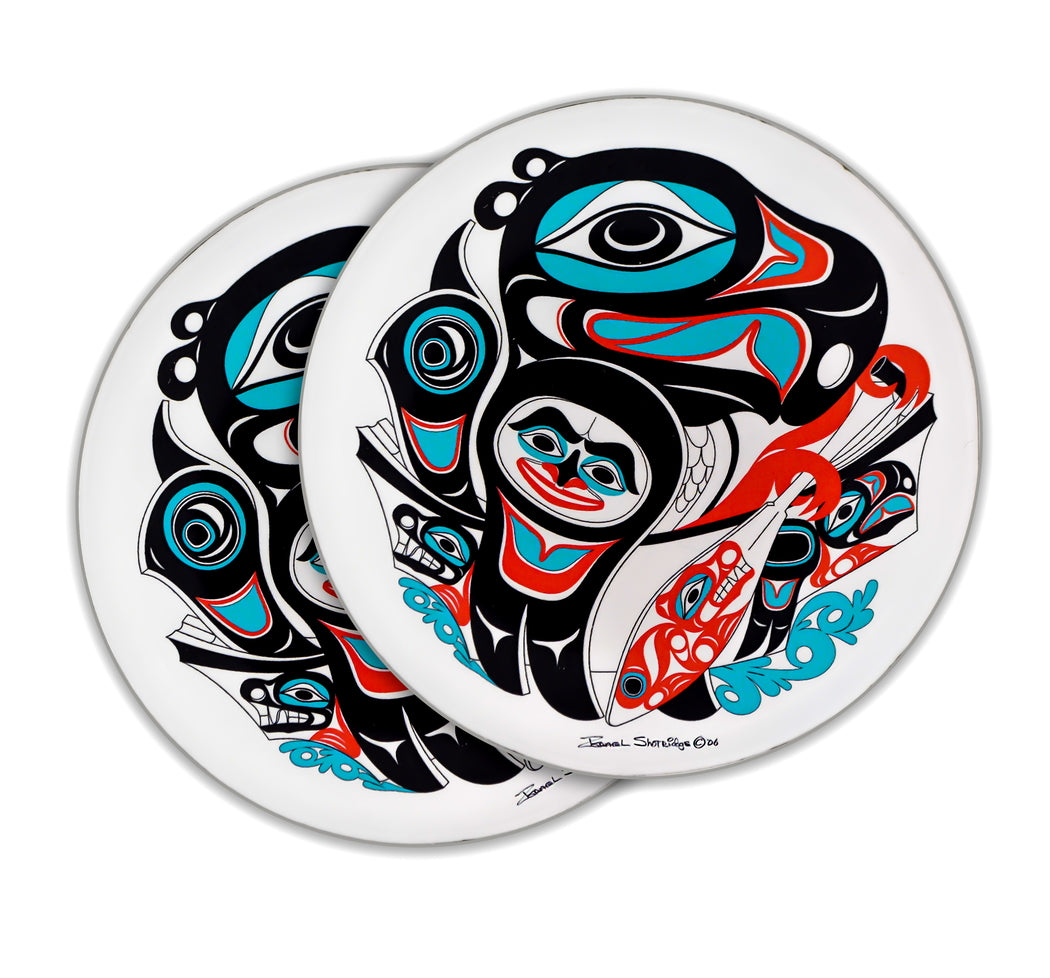 """Going to the Potlatch"" Acrylic Coasters - The Shotridge Collection"