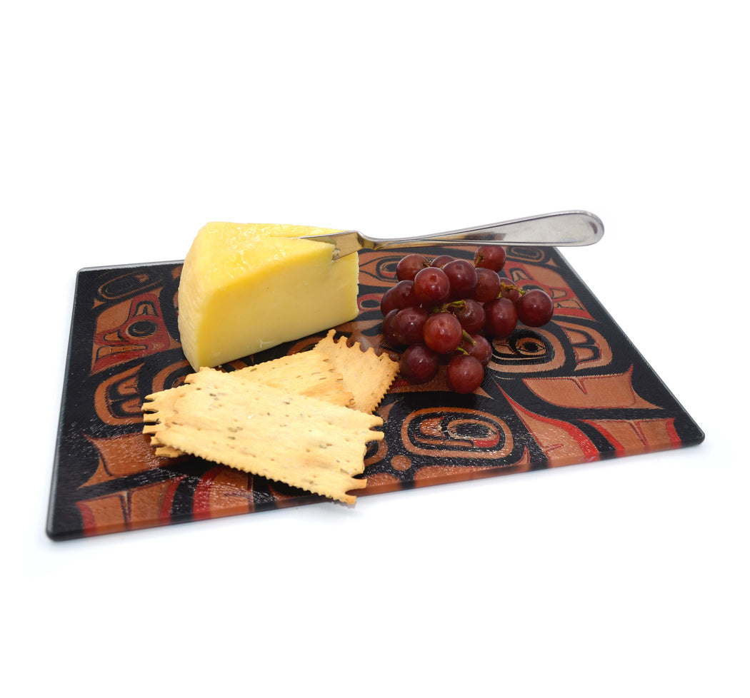 """Spirit Face"" Glass Cutting Board - The Shotridge Collection"
