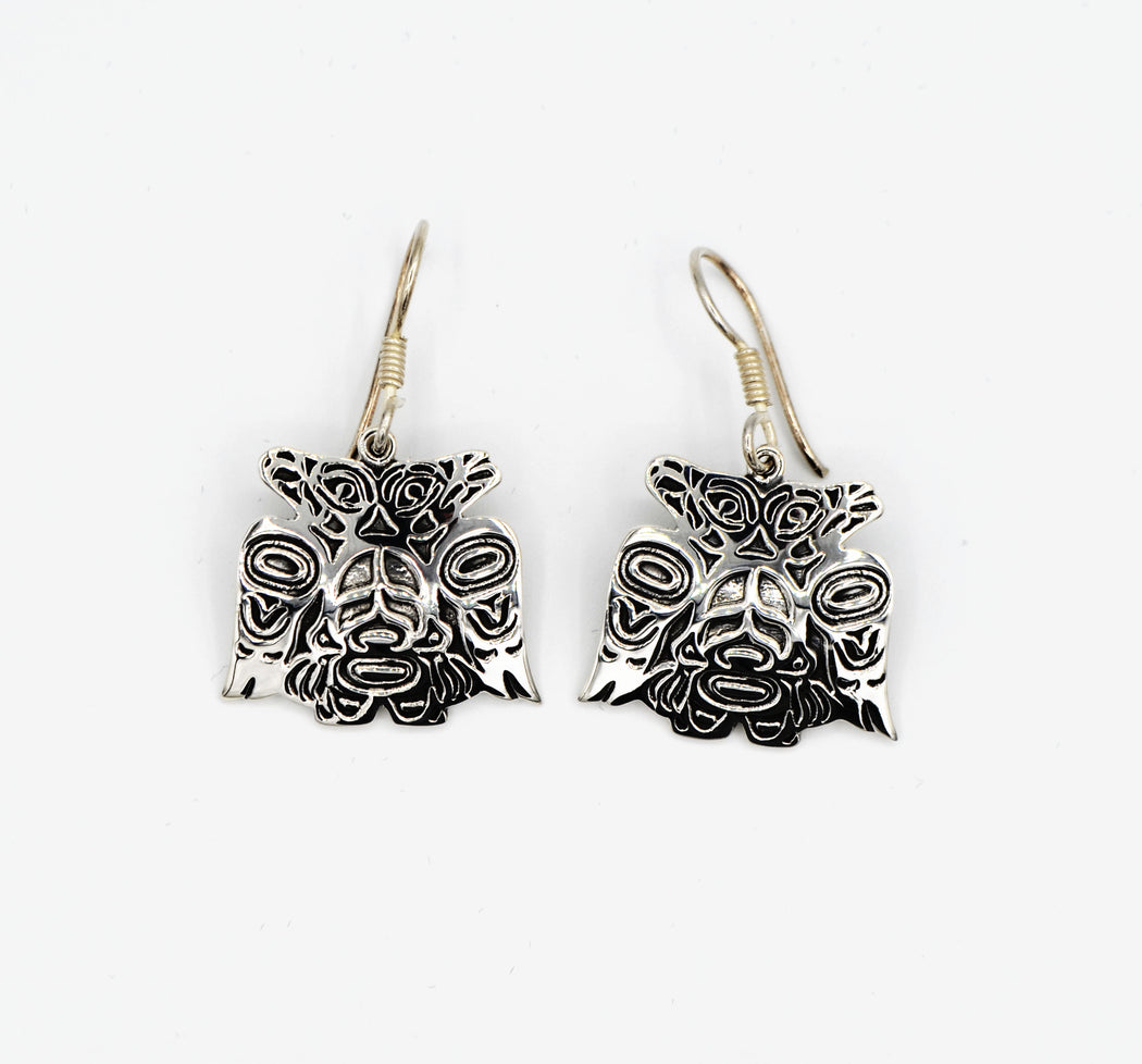 """Lovebirds"" Sterling Silver Earrings - The Shotridge Collection"