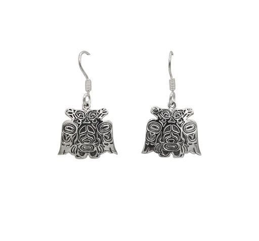 Lovebirds Sterling Silver Dangle Earrings - 3/4 inch - The Shotridge Collection