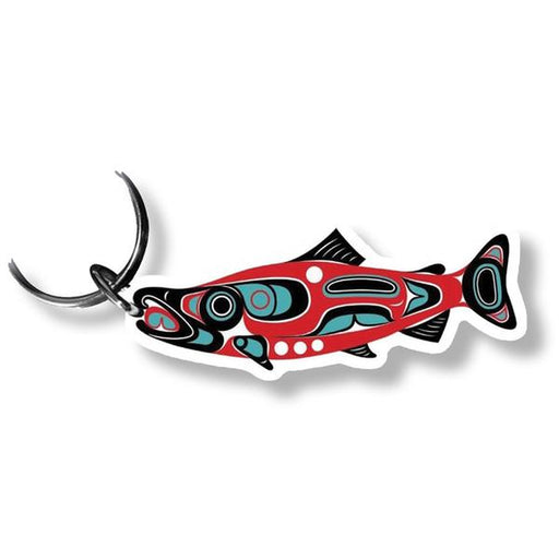 """Northwest Salmon"" Acrylic Key Ring - Shotridge.com"