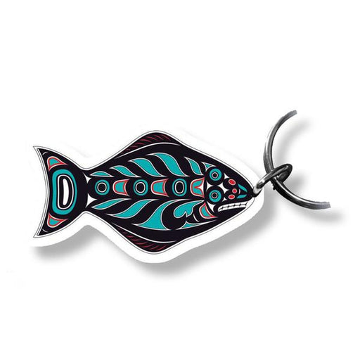 """Halibut"" Acrylic Key Ring - Shotridge.com"