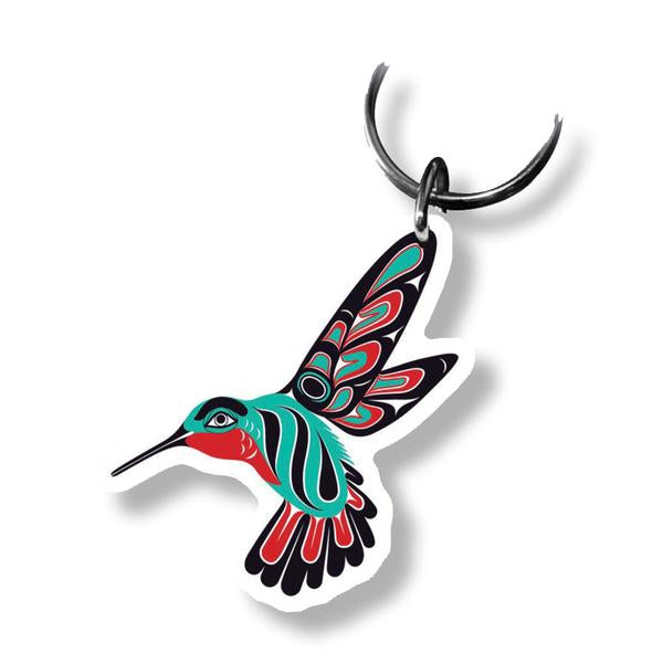 """Hummingbird"" Acrylic Key Ring - The Shotridge Collection"