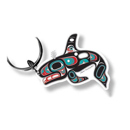 """Killer Whale"" Acrylic Key Ring - The Shotridge Collection"