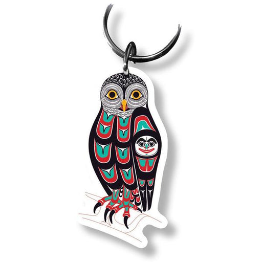 """Owl"" Acrylic Key Ring - The Shotridge Collection"