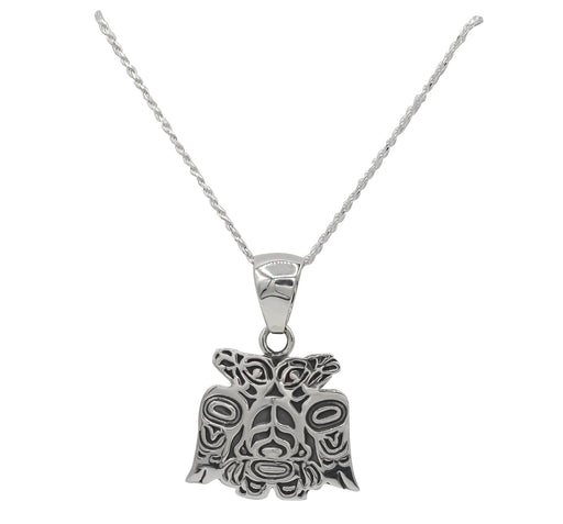 Lovebirds Sterling Silver Necklace - 1 inch - The Shotridge Collection