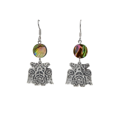 Lovebirds Sterling Silver & Abalone Dangle Earrings - 1 inch - The Shotridge Collection