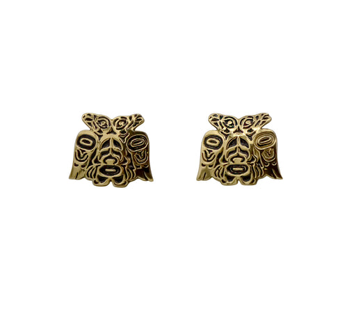 Lovebirds Alchemia Gold Post Earrings - 3/4 inch - The Shotridge Collection