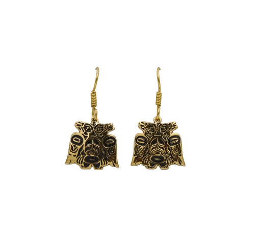 Lovebirds Alchemia Gold Dangle Earrings - 3/4 inch - The Shotridge Collection