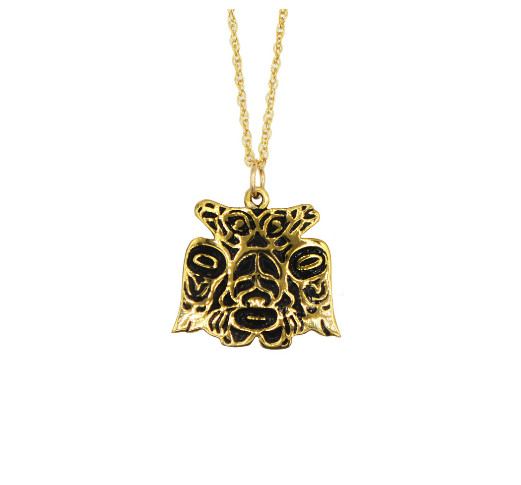 Lovebirds Alchemia Gold Necklace - 3/4 inch - The Shotridge Collection