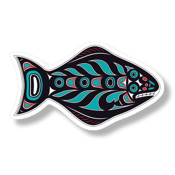 """Halibut"" Acrylic Magnet - The Shotridge Collection"