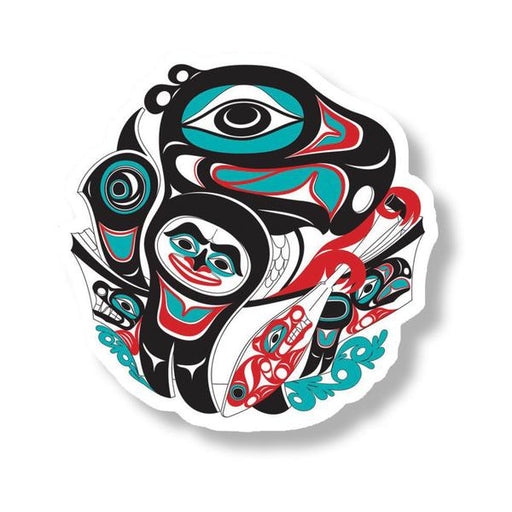 """Going To The Potlatch"" Acrylic Magnet - The Shotridge Collection"