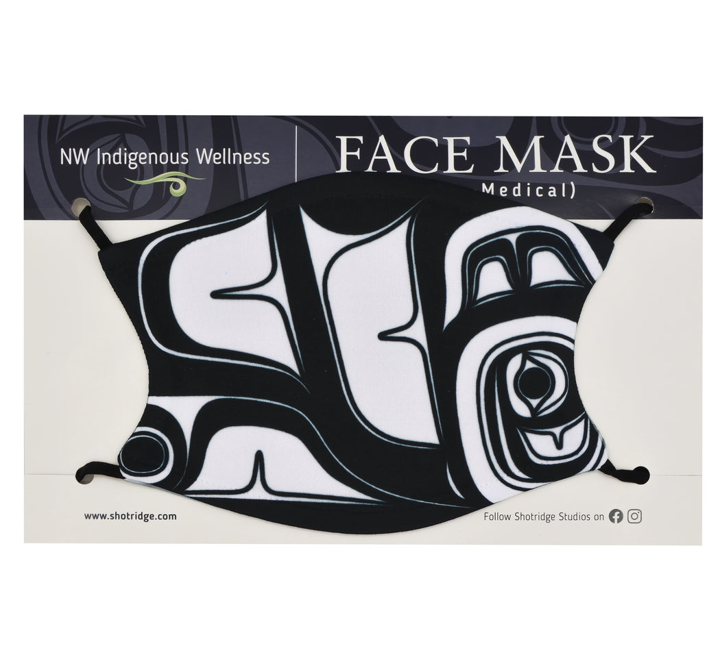 Black Abstract Formline #2 Face Mask