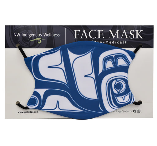 Blue Abstract Formline #2 Face Mask