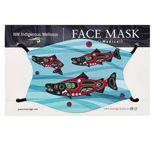 Salmon Run Face Mask