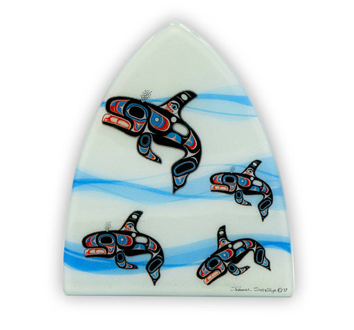 """Killer Whales in Waves"" Night Light - The Shotridge Collection"