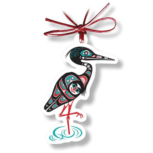 """Heron"" Acrylic Holiday Ornament - The Shotridge Collection"