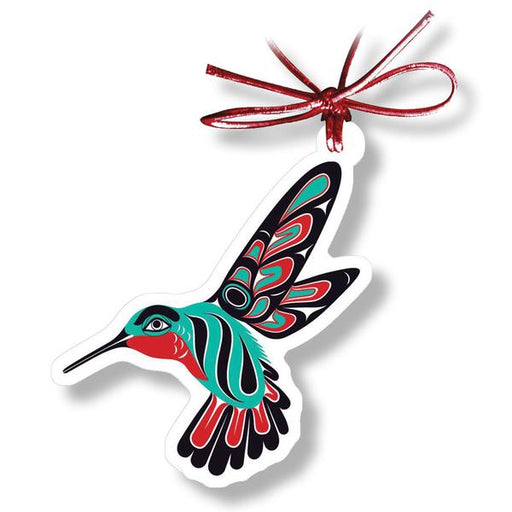 """Hummingbird"" Acrylic Holiday Ornament - The Shotridge Collection"