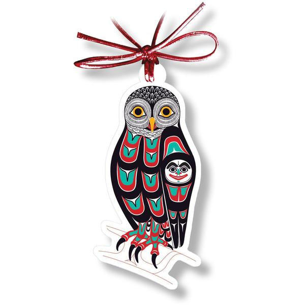 """Owl"" Acrylic Holiday Ornament - The Shotridge Collection"
