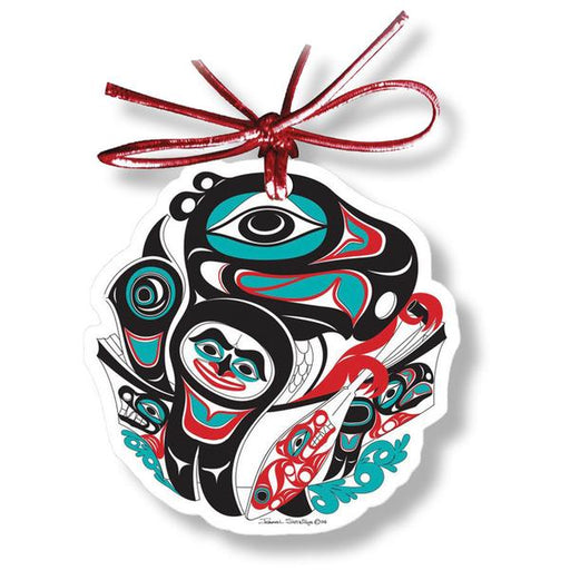 """Going to the Potlatch"" Acrylic Holiday Ornament - The Shotridge Collection"