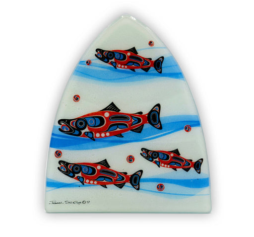 """Northwest Salmon in Waves"" Night Light - The Shotridge Collection"