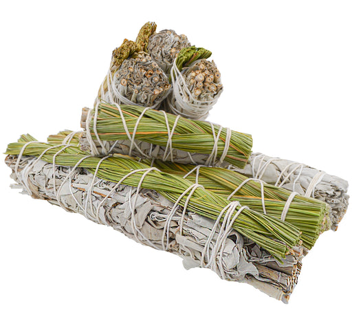 White Sage & Sweetgrass Smudge Bundle