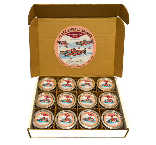 Alaskan Smoked Sockeye Salmon - 12 Jars in a box